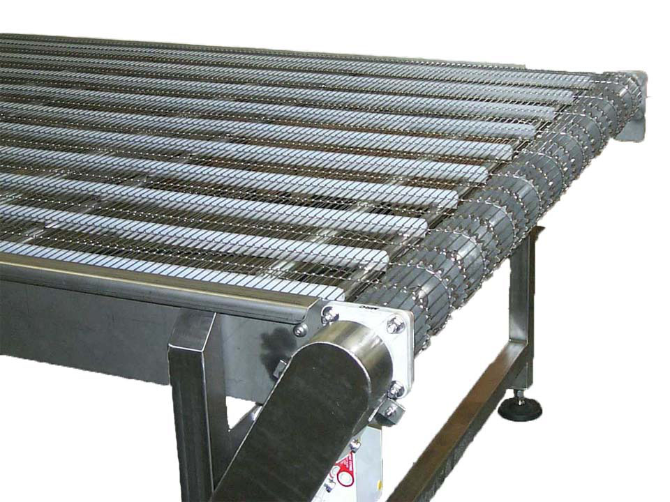 Conveyor Belt Types - Drive End Wire Belt - Sanitary Conveyors